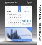 june desk calendar 2018...