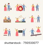 couple characters showing... | Shutterstock .eps vector #750533077