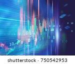 financial graph on technology... | Shutterstock . vector #750542953