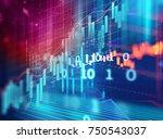 financial stock market graph on ... | Shutterstock . vector #750543037