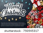 vector illustration of merry... | Shutterstock .eps vector #750545317