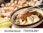 delicious entrails pan or grill | Shutterstock . vector #750556387