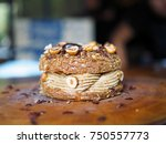 paris brest  a classic french... | Shutterstock . vector #750557773