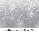winter sky with falling snow ... | Shutterstock .eps vector #750565207