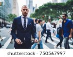 portrait of serious male... | Shutterstock . vector #750567997