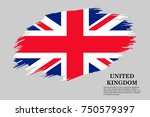 grunge styled flag of united... | Shutterstock .eps vector #750579397