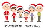 family three generations... | Shutterstock .eps vector #750594673