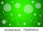 light green vector christmas... | Shutterstock .eps vector #750594913