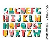 english alphabet vector ...   Shutterstock .eps vector #750603727
