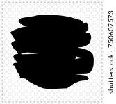black brush stroke and texture. ... | Shutterstock .eps vector #750607573