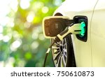 ev car or electric car at...