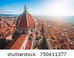 view of the cathedral santa... | Shutterstock . vector #750611377