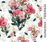 seamless floral pattern in...   Shutterstock . vector #750634633