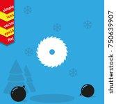 circular saw blade icon. saw... | Shutterstock .eps vector #750639907