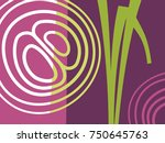 abstract vegetable design in... | Shutterstock .eps vector #750645763