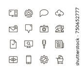 internet icon set. collection... | Shutterstock .eps vector #750652777