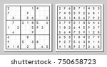 sudoku with the answer. vector... | Shutterstock .eps vector #750658723