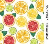 citrus seamless pattern. orange ...   Shutterstock .eps vector #750662737