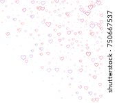 pink hearts confetti. scattered ... | Shutterstock .eps vector #750667537