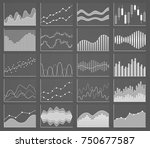business chart collection. set... | Shutterstock . vector #750677587