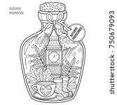 coloring book for adults. a... | Shutterstock .eps vector #750679093