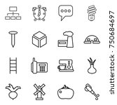thin line icon set   hierarchy  ... | Shutterstock .eps vector #750684697