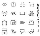 thin line icon set   up down... | Shutterstock .eps vector #750685747