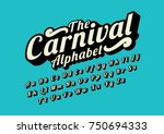 Vector of stylized calligraphic font and alphabet | Shutterstock vector #750694333