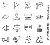thin line icon set   flag ... | Shutterstock .eps vector #750708133