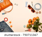 fashionable women's cosmetics... | Shutterstock . vector #750711367