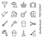 thin line icon set   funnel ... | Shutterstock .eps vector #750722047
