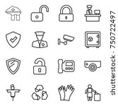 thin line icon set   factory... | Shutterstock .eps vector #750722497