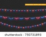 christmas lights isolated... | Shutterstock .eps vector #750731893