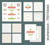 christmas labels and badges... | Shutterstock .eps vector #750733663