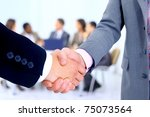 handshake isolated on business... | Shutterstock . vector #75073564