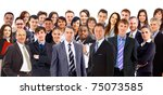 collage of a large group of... | Shutterstock . vector #75073585