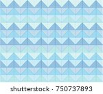 abstract blue color zigzag...   Shutterstock .eps vector #750737893