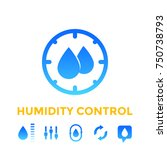 humidity control icons set | Shutterstock .eps vector #750738793