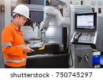 maintenance engineer... | Shutterstock . vector #750745297