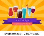 let's drink right learn how to... | Shutterstock .eps vector #750749203