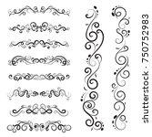 vector illustration set of... | Shutterstock .eps vector #750752983