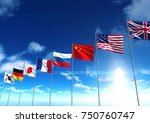 international country flags  3d ... | Shutterstock . vector #750760747