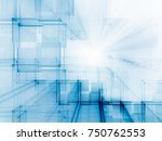 abstract blue toned background... | Shutterstock . vector #750762553