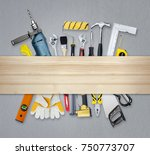 construction concept set all of ... | Shutterstock . vector #750773707