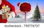 digital composite of santa... | Shutterstock . vector #750776737