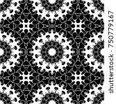 floral pattern with geometric... | Shutterstock . vector #750779167