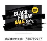 black friday sale banner layout ... | Shutterstock .eps vector #750790147