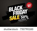 black friday sale banner layout ...   Shutterstock .eps vector #750790183