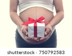 close up of young pregnant... | Shutterstock . vector #750792583