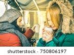 happy girlfriends best friends... | Shutterstock . vector #750806197